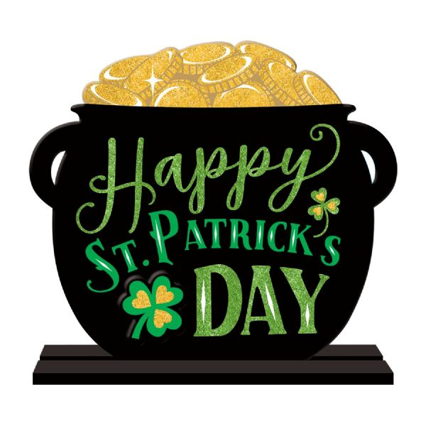 Happy St. Patrick's Day Pot of Gold MDF Sign
